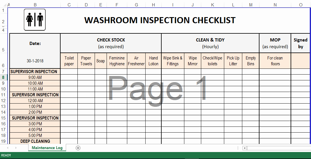 Cleaning Schedule Template Excel Best Of Cleaning Schedule Template In Excel