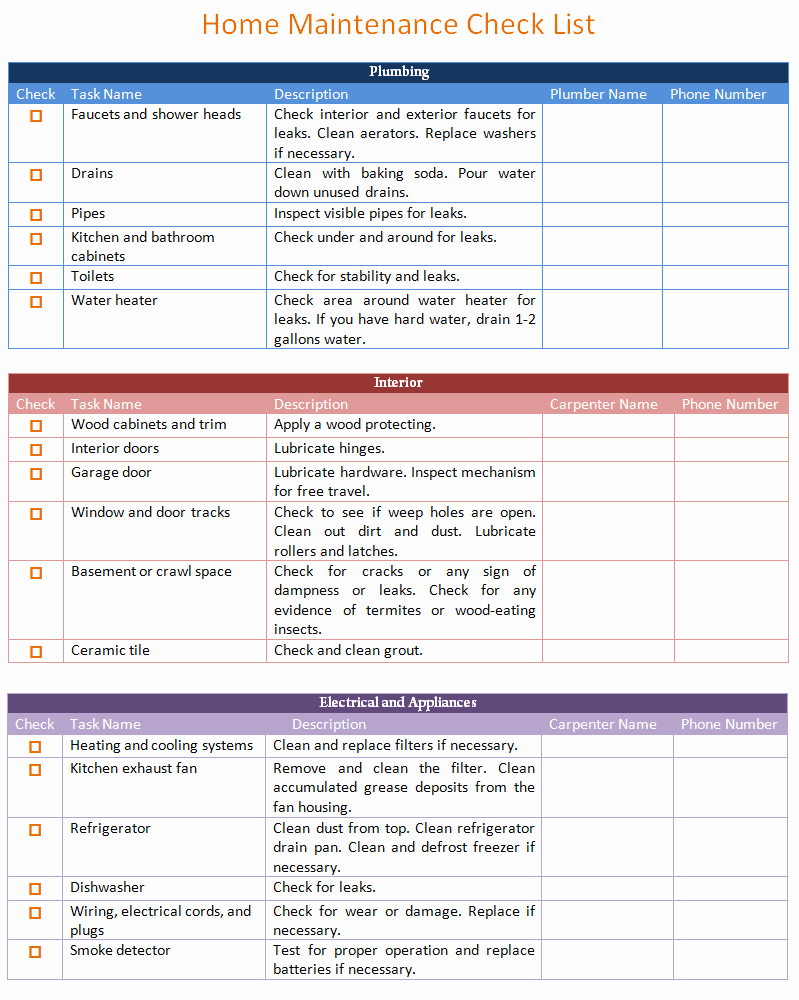 Cleaning Schedule Template Excel Best Of Home Maintenance Schedule Template Basic Dotxes