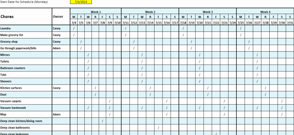 Cleaning Schedule Template Excel Unique Internal Audit Plan Template Xls