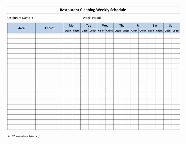 Cleaning Schedule Template for Restaurant Best Of Best 25 Cleaning Schedule Templates Ideas On Pinterest