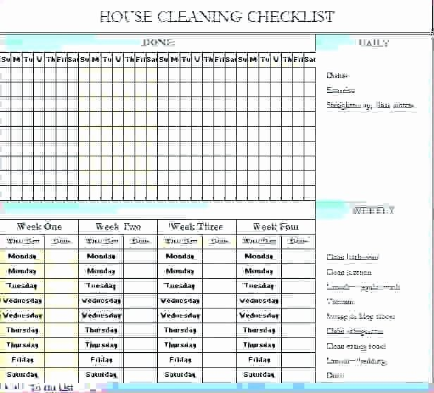 Cleaning Schedule Template for Restaurant Fresh Excel Spreadsheet for Warehouse Inventory Template Free