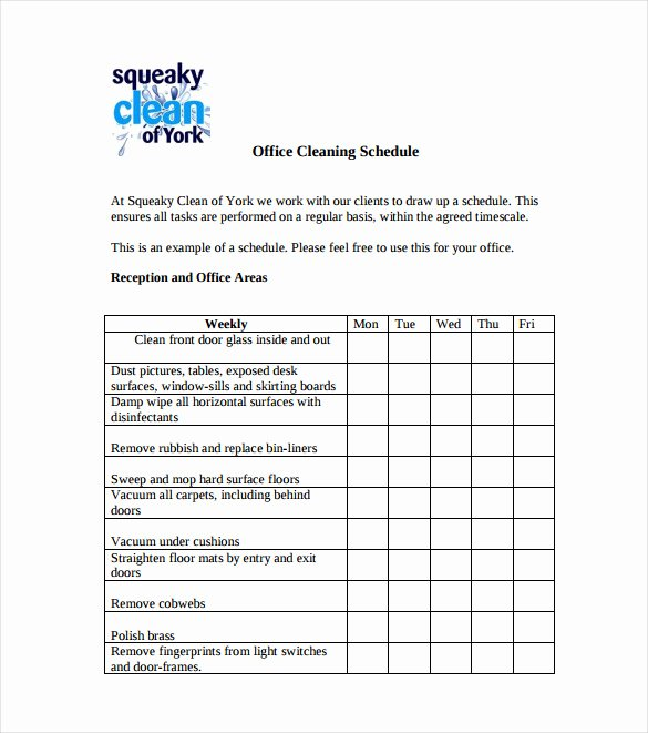 Cleaning Schedule Template for Restaurant New 21 Bathroom Cleaning Schedule Templates Pdf Doc