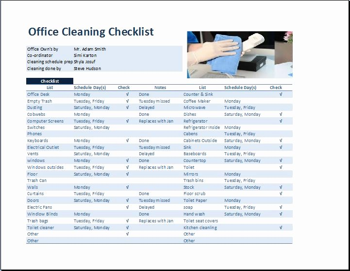 Cleaning Service Checklist Template New Mercial Fice Cleaning Checklist Template