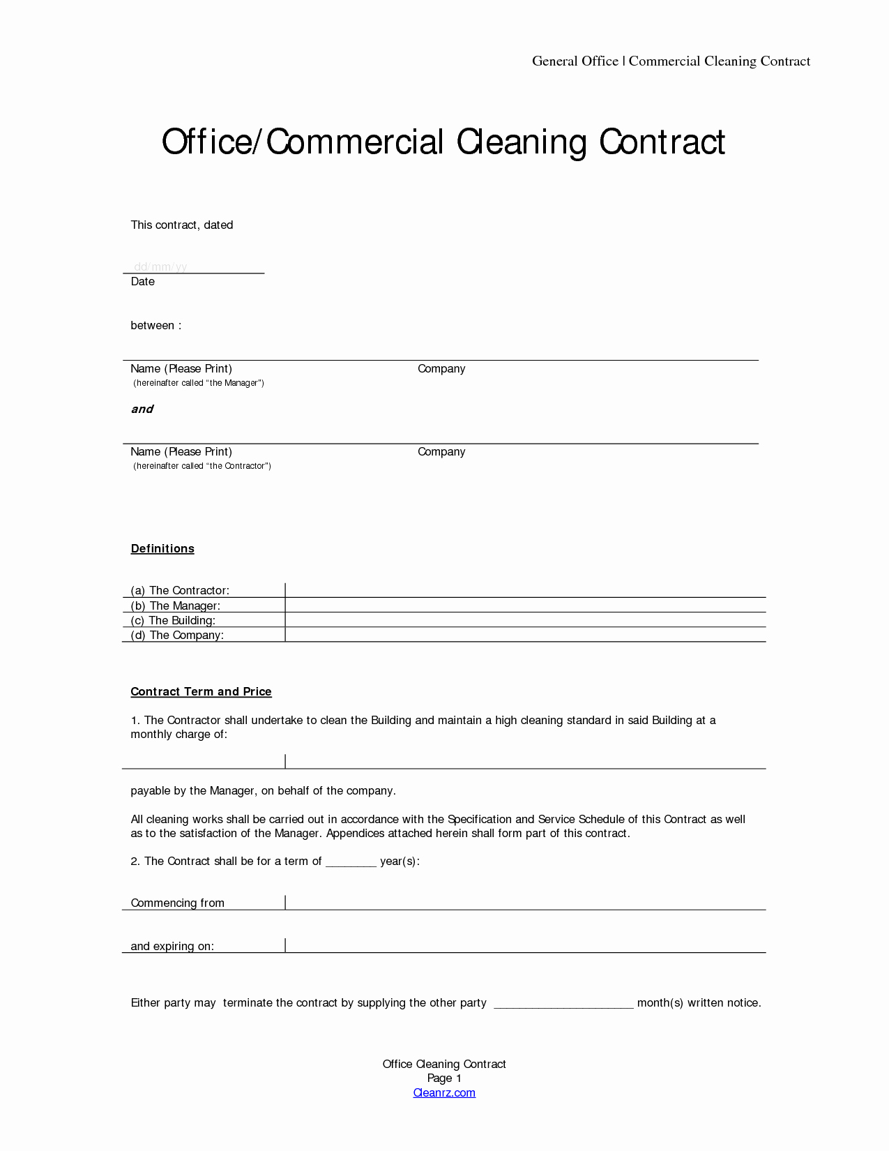 Cleaning Service Contract Template Awesome Basic Service Contract Mughals