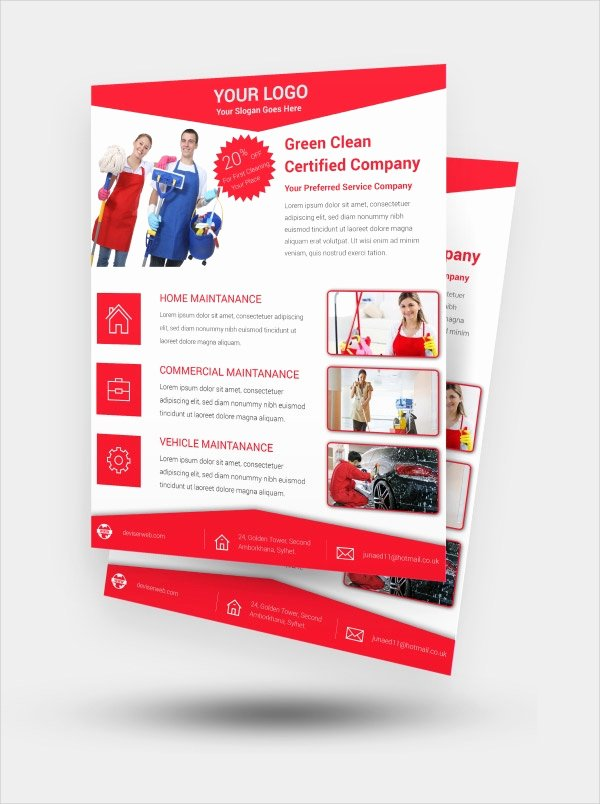 Cleaning Service Flyer Template Awesome 21 Cleaning Service Flyers Free Psd Ai Eps format