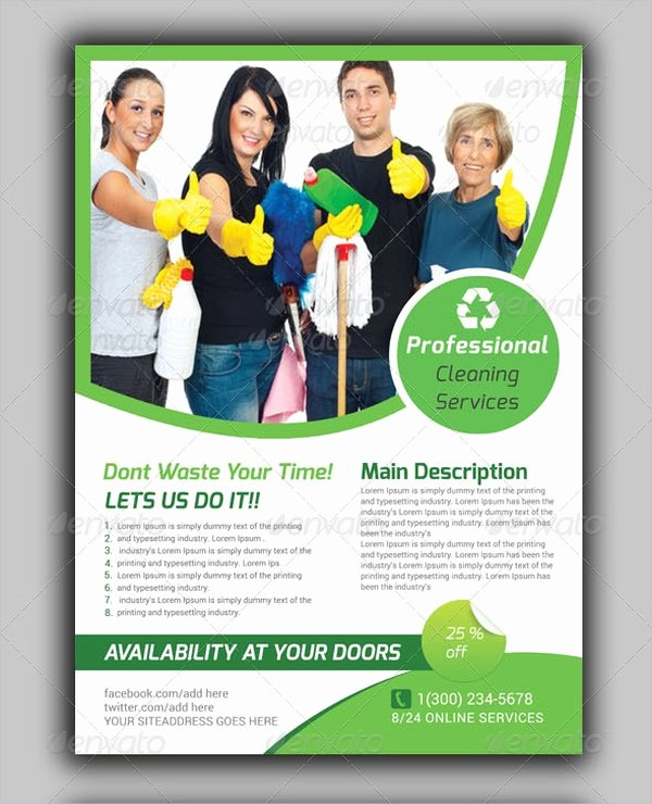 Cleaning Service Flyer Template Awesome 28 Cleaning Service Flyer Designs & Templates Psd Ai