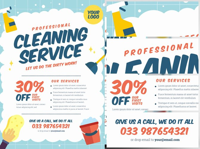 Cleaning Service Flyer Template Best Of Cleaning Service Flyer Template V2 Flyerheroes