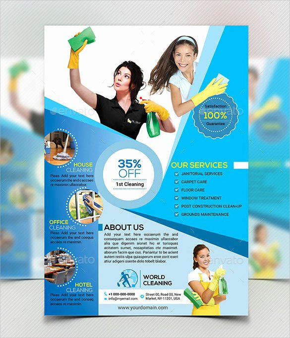 Cleaning Service Flyer Template Elegant 10 House Cleaning Flyer Templates to Download