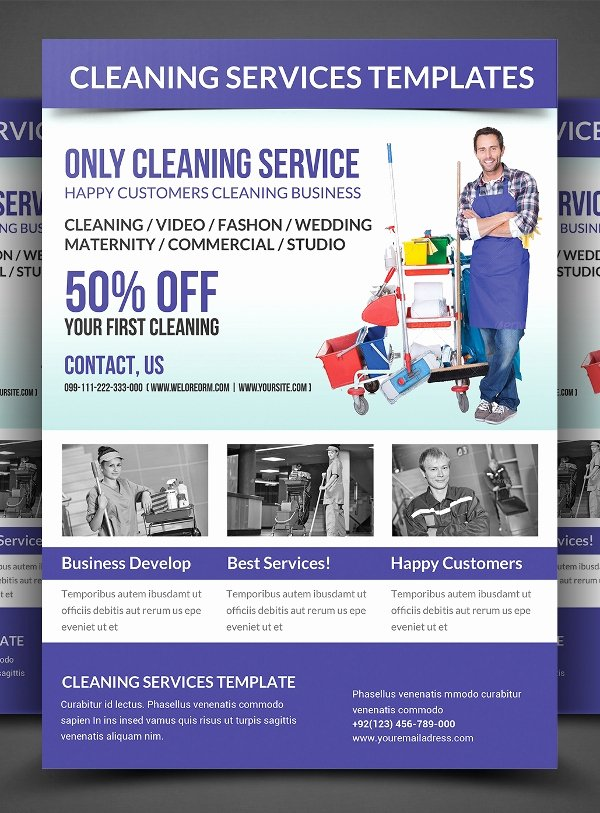 Cleaning Service Flyer Template Elegant 26 Cleaning Flyers Psd Ai Eps Download