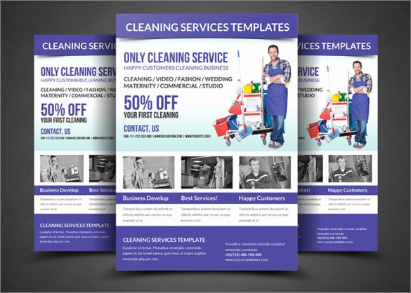 Cleaning Service Flyer Template Fresh 10 House Cleaning Flyer Templates to Download