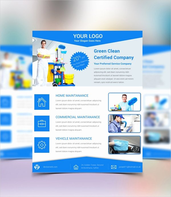 Cleaning Service Flyer Template Fresh 28 Cleaning Service Flyer Designs & Templates Psd Ai