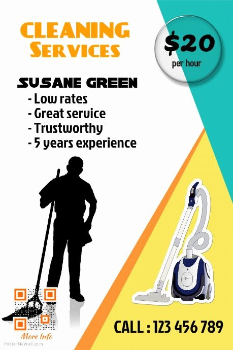 Cleaning Service Flyer Template Inspirational 375 Best Small Business Flyers Diy Images On Pinterest