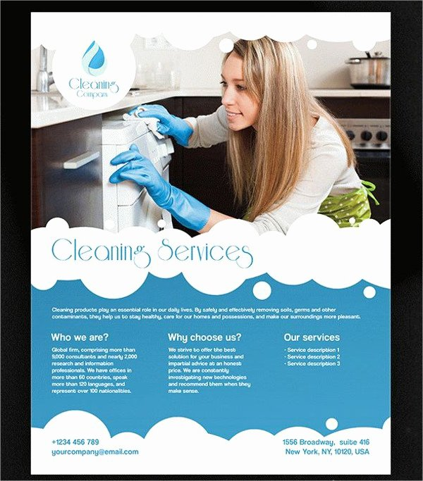 Cleaning Service Flyer Template Inspirational 47 Printable Flyer Templates Psd Ai