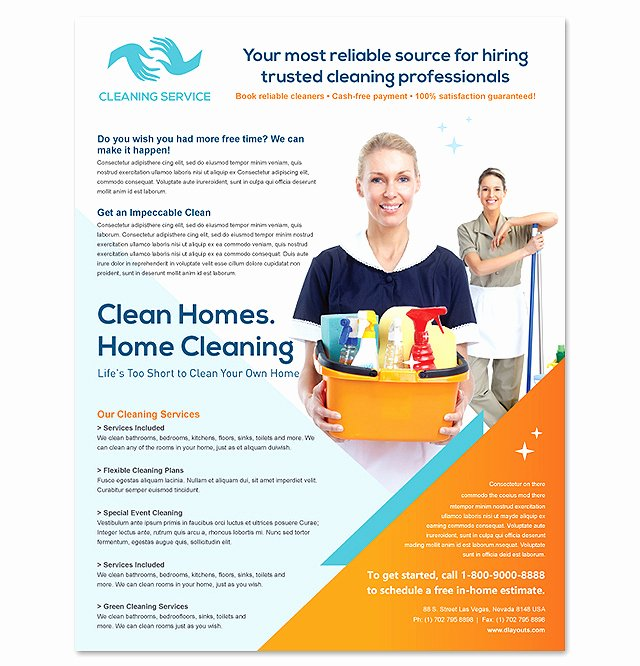 Cleaning Service Flyer Template Inspirational Cleaning & Janitorial Services Flyer Template Design