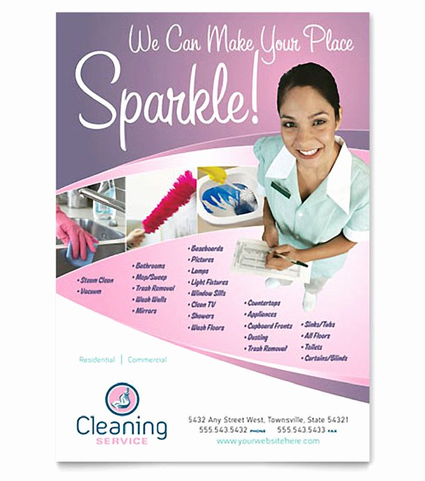 Cleaning Service Flyer Template Inspirational Cleaning Business Flyer Samples Templates Resume