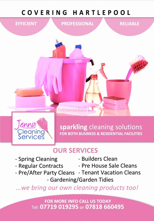 Cleaning Service Flyer Template Inspirational Jenny Cleaning Services Flyer Cleaning