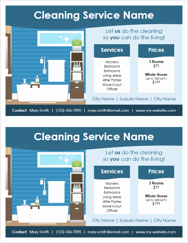 Cleaning Service Flyer Template Lovely Cleaning Service Flyer Template for Word