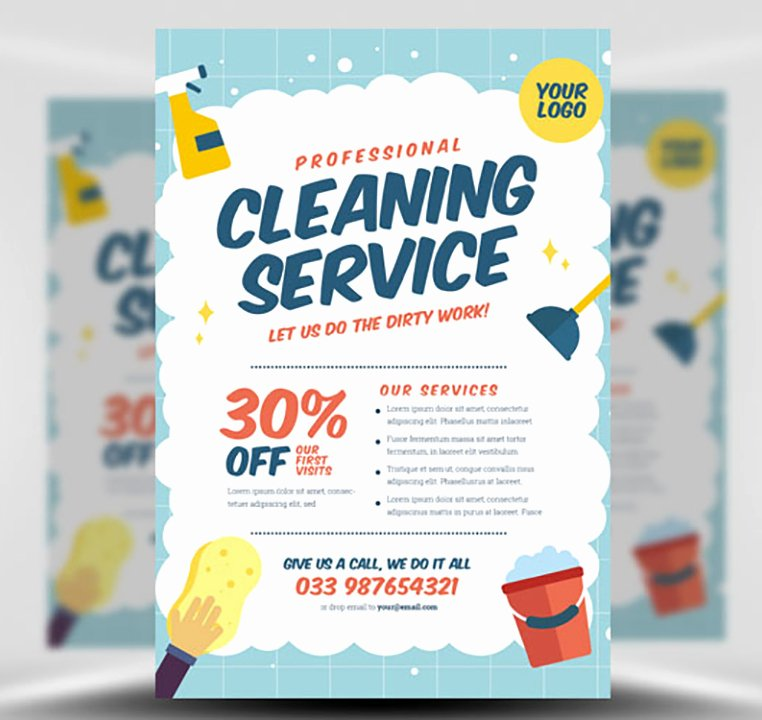 Cleaning Service Flyer Template Lovely Cleaning Service Flyer Template V2 Flyerheroes