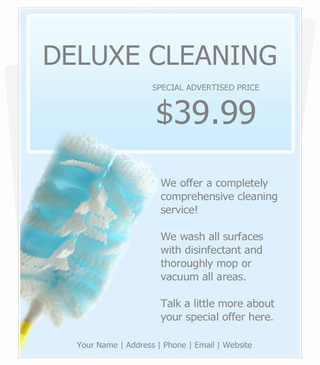 Cleaning Service Flyer Template Lovely Free Cleaning Flyer Template by Cleaningflyer
