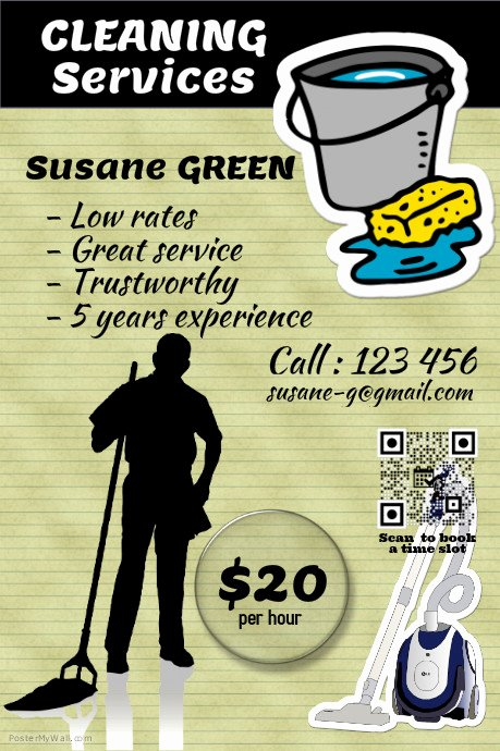 Cleaning Service Flyer Template Lovely Postermywall