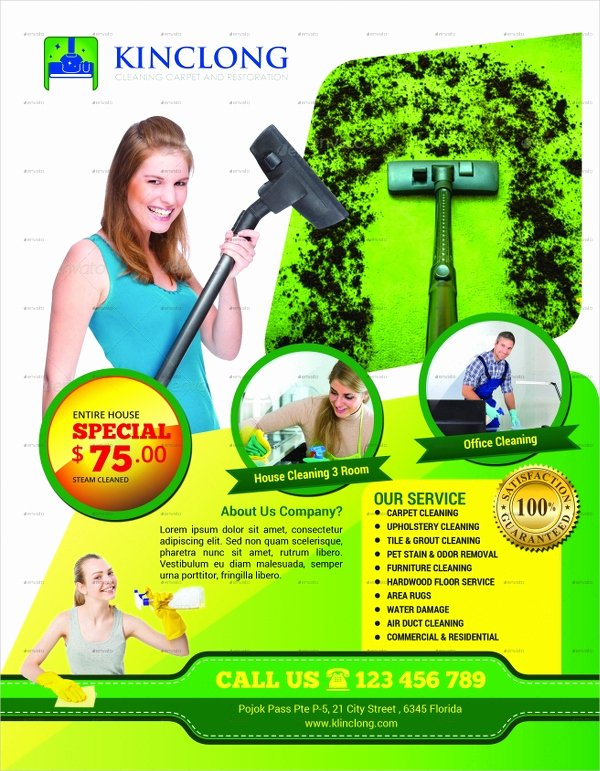 Cleaning Service Flyer Template Luxury 28 Cleaning Service Flyer Designs & Templates Psd Ai