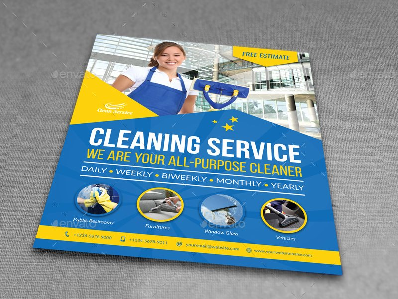 Cleaning Service Flyer Template Luxury Cleaning Services Flyer Template Vol 4 by Ow
