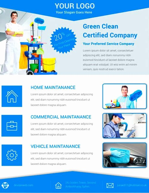 Cleaning Service Flyer Template Luxury Download Free Cleaning Service Flyer Psd Template for
