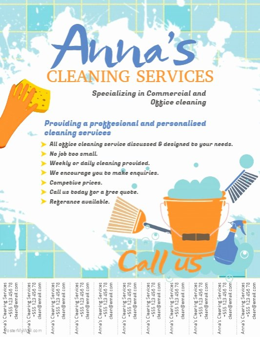 Cleaning Service Flyer Template New Cleaning Service Flyer Template