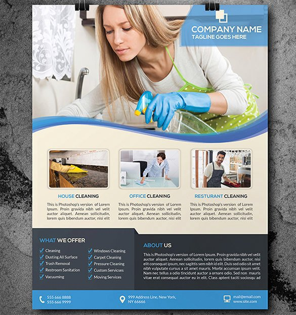 Cleaning Service Flyer Template New House Cleaning Flyer Template 17 Psd format Download