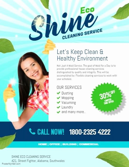 Cleaning Service Flyer Template Unique Cleaning Service Flyer Template Dni America Flyer Gallery