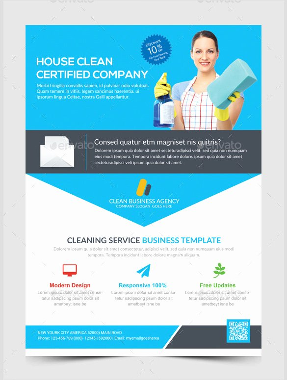 Cleaning Service Flyer Template Unique House Cleaning Flyer Template 17 Psd format Download