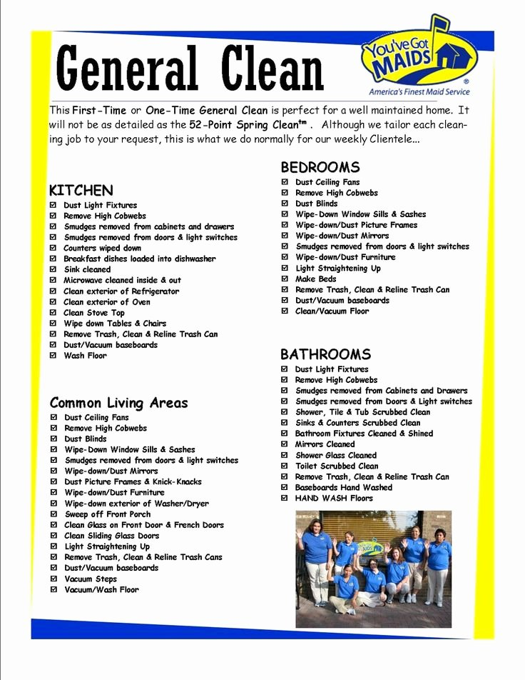 Cleaning Services Price List Template Beautiful Free Printable House Cleaning Charts