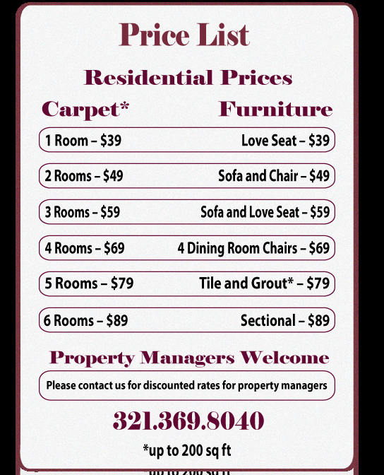 Cleaning Services Price List Template Best Of House Cleaning Free Residential House Cleaning Price List