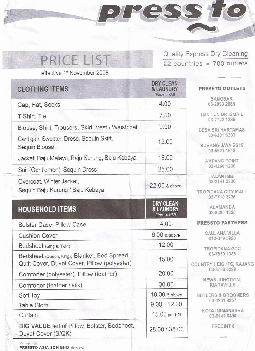 Cleaning Services Price List Template Best Of Unique Cleaning Services Price List Template