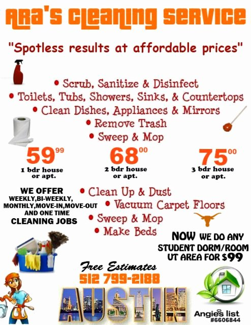 Cleaning Services Price List Template Best Of View source Image Business Pinterest