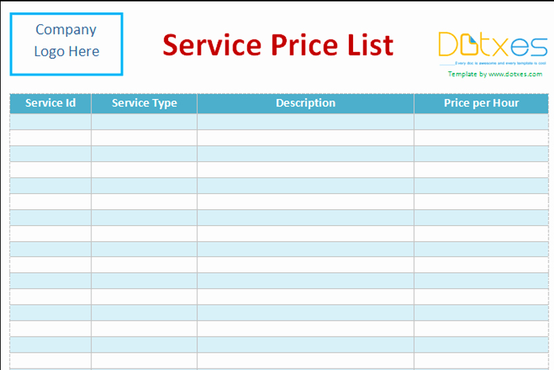 Cleaning Services Price List Template Fresh Cleaning Services Price List Template