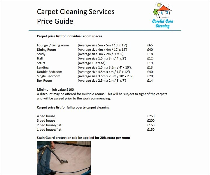 Cleaning Services Price List Template New 8 Cleaning Price List Templates Free Word Pdf Excel