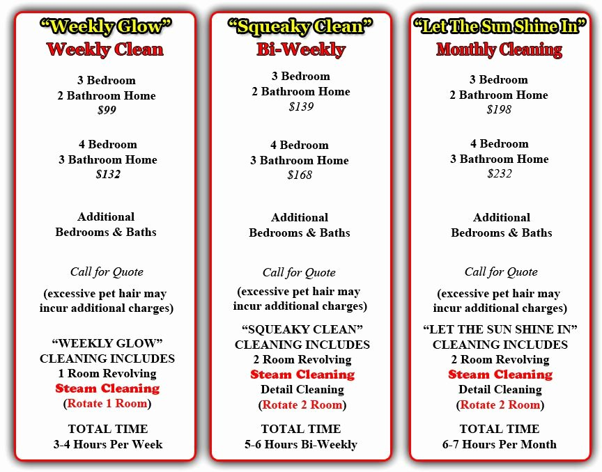 Cleaning Services Price List Template Unique House Cleaning Services Cleaning Service Prices
