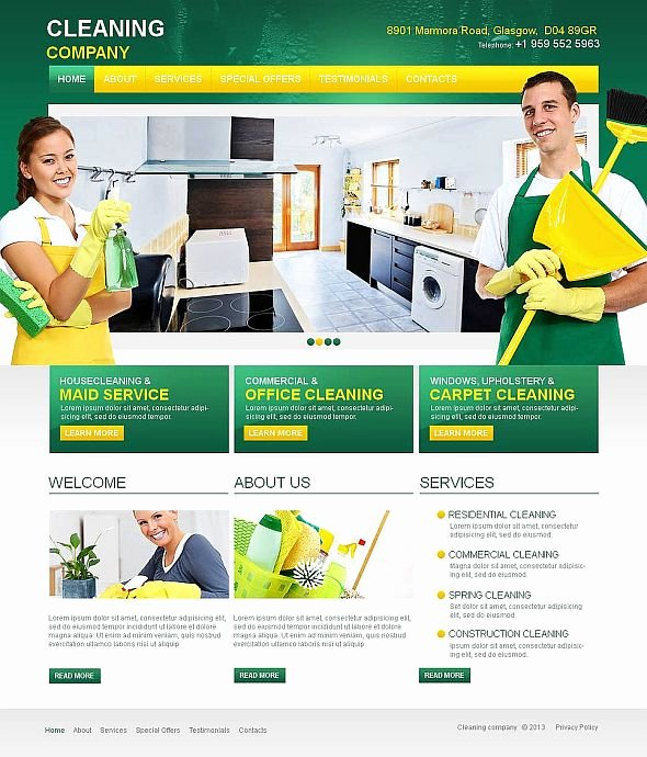 Cleaning Services Website Template Awesome 10 attractive Services Website Templates tonytemplates Blog