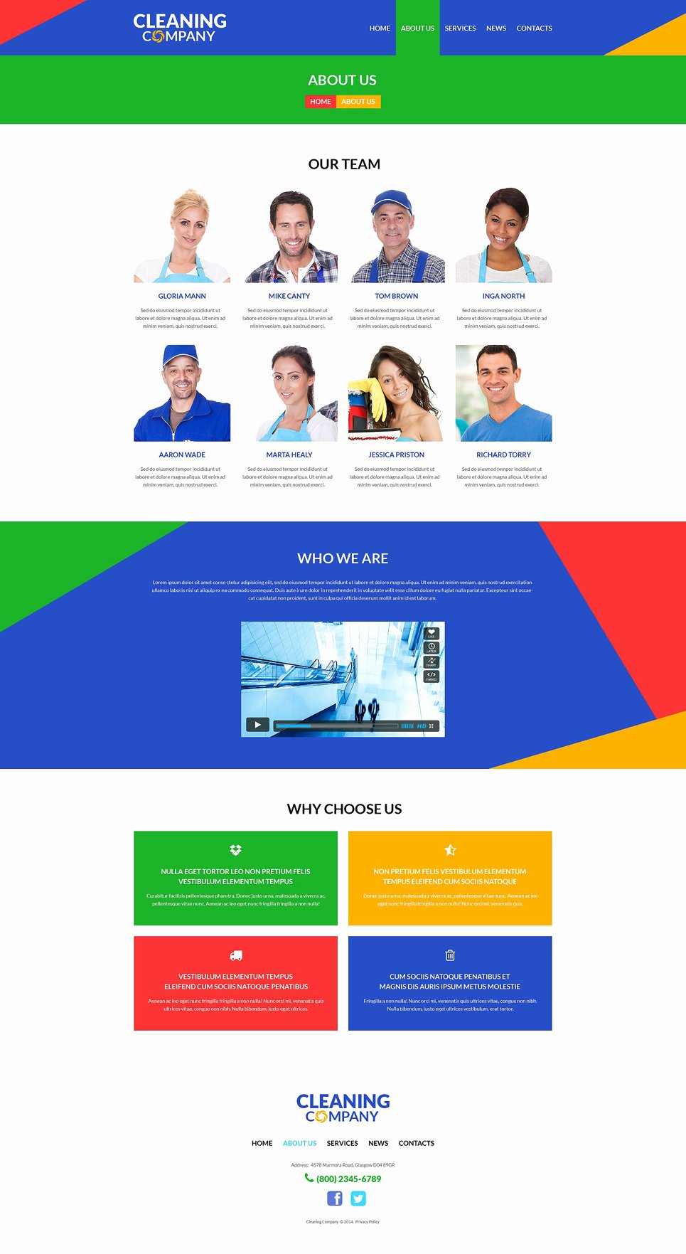 Cleaning Services Website Template Awesome Cleaning Services Wordpress theme