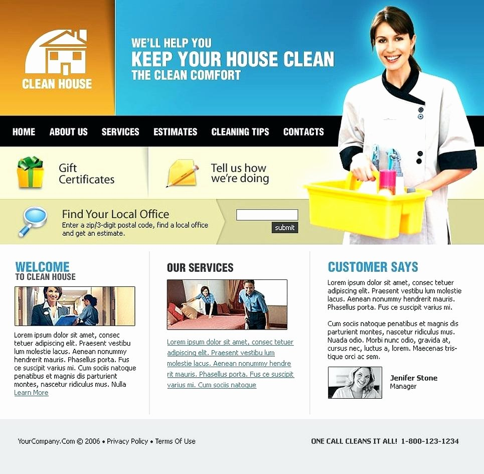 Cleaning Services Website Template Awesome House Cleaning Website Template