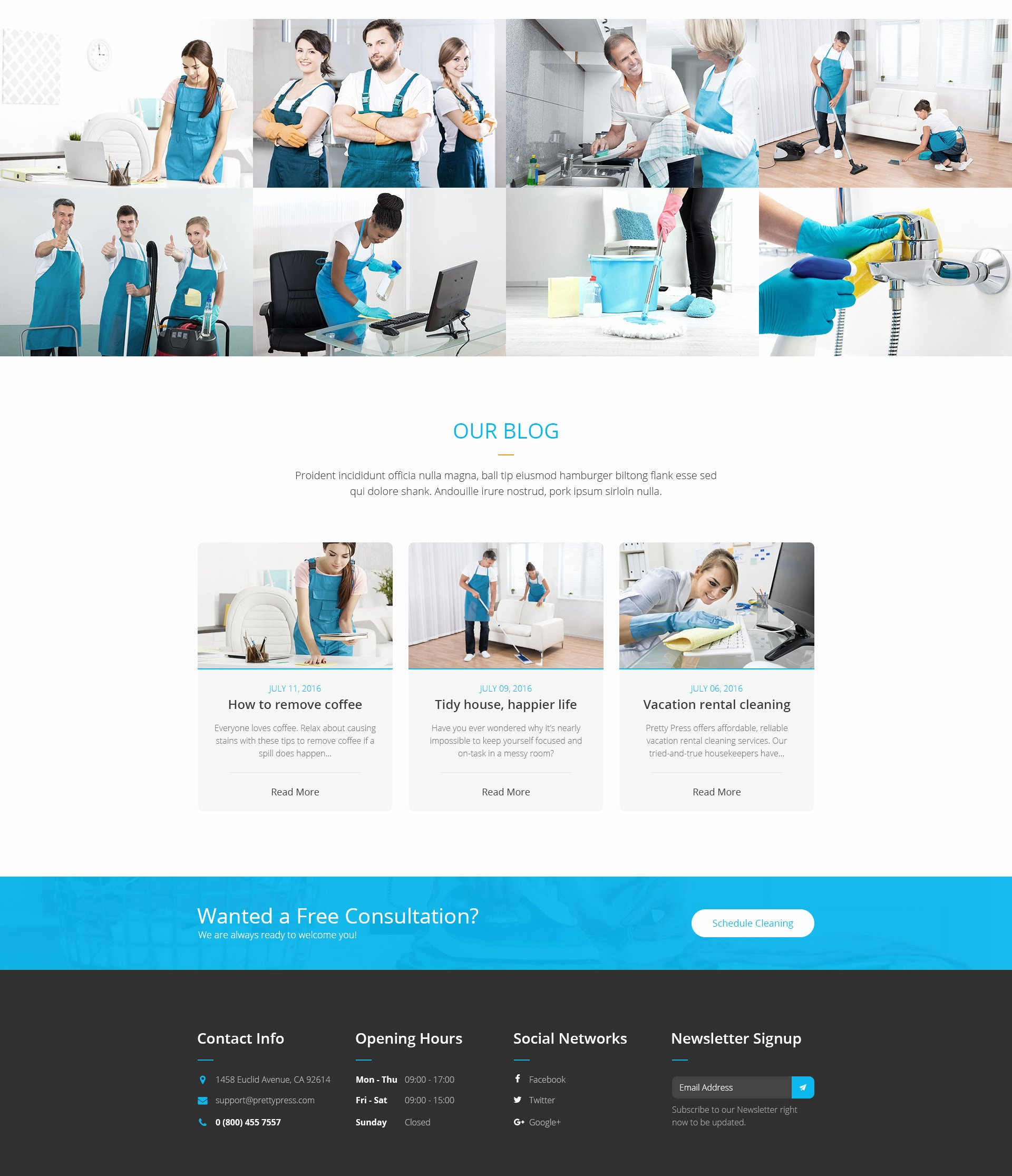 Cleaning Services Website Template Beautiful Prettypress – Cleaning Service HTML Template