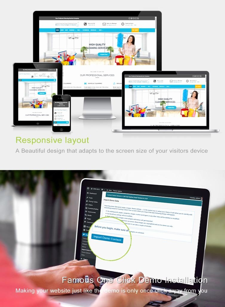Cleaning Services Website Template Elegant Carpet Cleaner Wordpress theme Website Template for