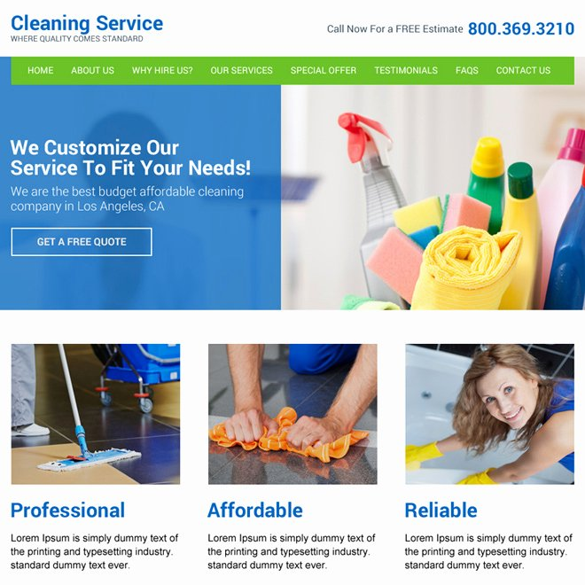 Cleaning Services Website Template Elegant Effective Cleaning Services Website Template to