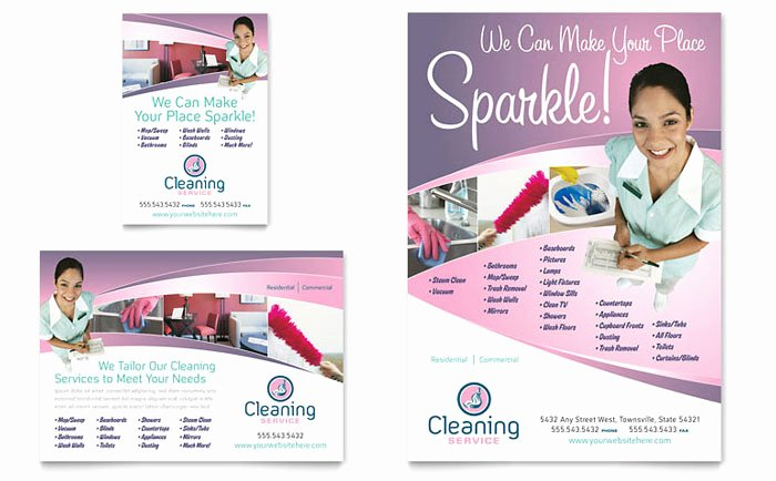 Cleaning Services Website Template Elegant House Cleaning & Maid Services Flyer & Ad Template Design