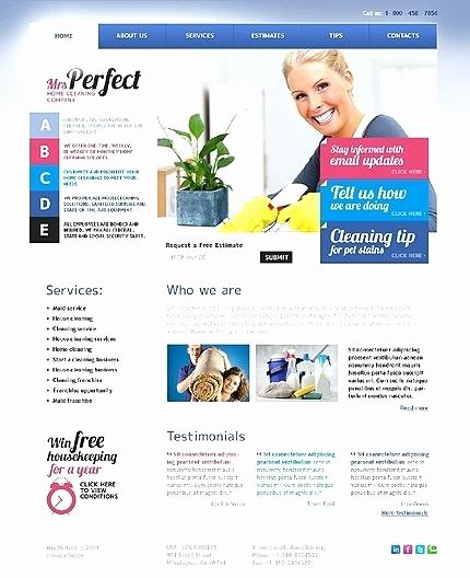 Cleaning Services Website Template Elegant House Cleaning Website Template