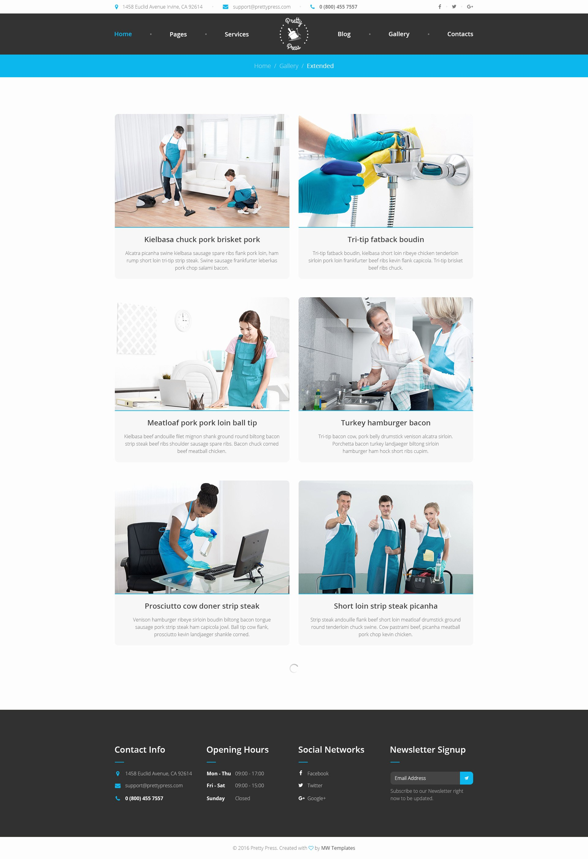 Cleaning Services Website Template Elegant Prettypress – Cleaning Service HTML Template