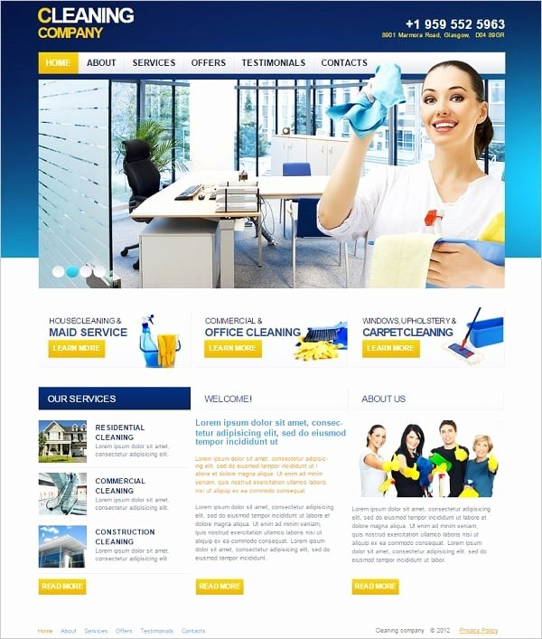 Cleaning Services Website Template Fresh Cleaning Pany Website Templates Sparkling solution