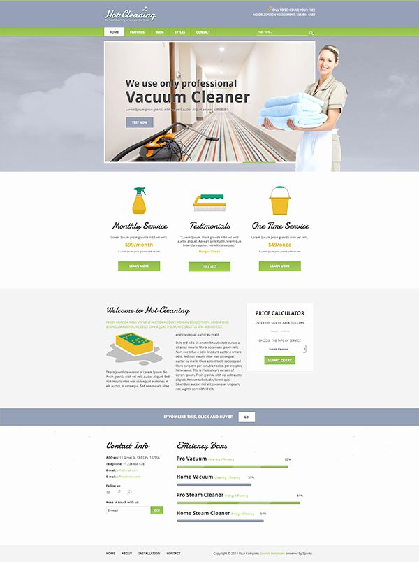 Cleaning Services Website Template Fresh Joomla Cleaning Template Hotthemes