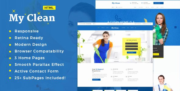 Cleaning Services Website Template Inspirational Myclean Cleaning Pany HTML5 Responsive Template by